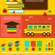 Back to school infographic, data and graphic elements — Stock Vector