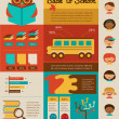 Back to school infographic, data and graphic elements — Imagens vectoriais em stock