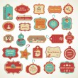 Xmas set - labels, tags and decorative elements — Stockvectorbeeld