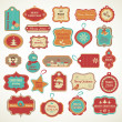 Xmas set - labels, tags and decorative elements — Stock Vector