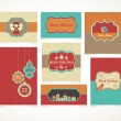 Xmas set - labels, tags and greeting cards — Stock Vector