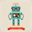 Hipster robot toy icon — Stock Vector