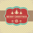 Vintage Xmas greeting card and background — Stock Vector