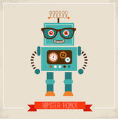 Hipster robot toy icon — Vector de stock