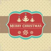 Vintage Xmas greeting card and background — Vector de stock