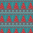Stok Vektör: Xmas ornaments - seamless knitted background