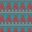图库矢量图片: Xmas ornaments - seamless knitted background