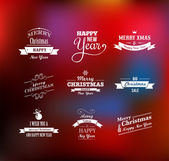 Christmas set - labels, emblems and elements — Stock Vector