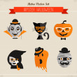 Stock Vector: Happy Hipster Halloween