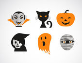 Happy Halloween vector set — Stock Vector