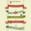 Christmas set of ribbons, emblems and elements — Stock Vector