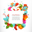 Christmas gift background with xmas elements — Stock Vector