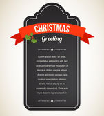 Chalkboard Christmas vintage invitation and label — Stock Vector