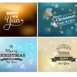 Stock Vector: Light bokeh, magic Christmas lights - backgrounds