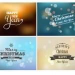 Light bokeh, magic Christmas lights - backgrounds — Stock Vector