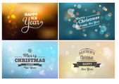 Light bokeh, magic Christmas lights - backgrounds — Stock Vector