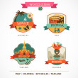 World Cities labels - Mahe, Roma, Bangkok, Bogota — Vector de stock #36417109