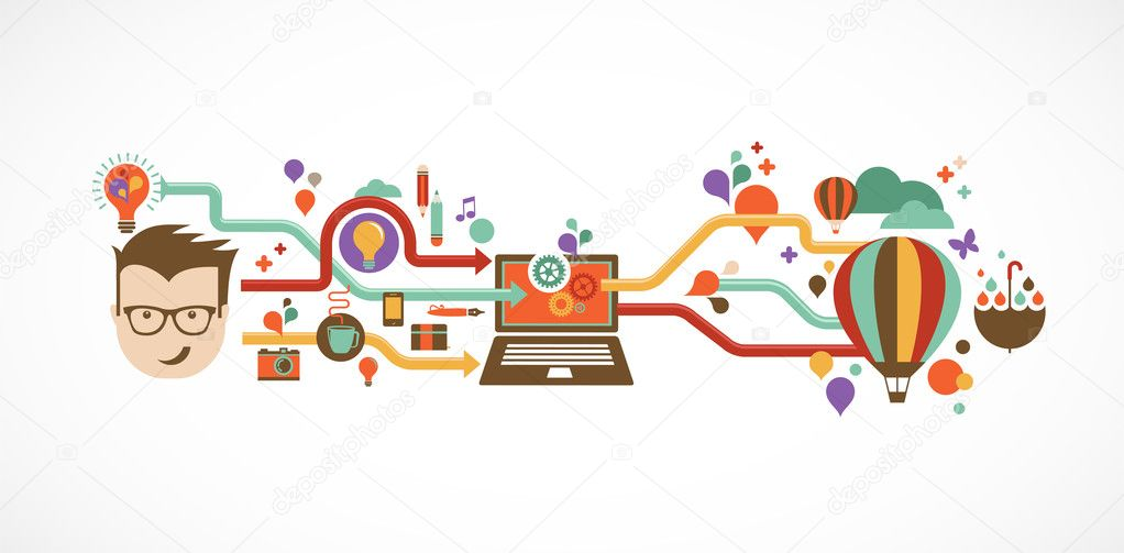 Infographie design cr atif id e et innovation image for Idee innovation entreprise