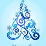 Elegant Christmas tree — Stock Vector #3819810