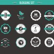 Set of retro vintage badges and labels — Stock Vector #38403877