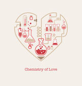 Chemistry of Love — Stock Vector