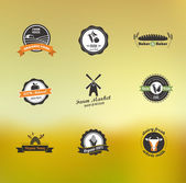 Labels and badges — Vettoriale Stock