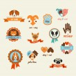 Pets vector icons - cats and dogs elements — Stock Vector #39614781
