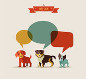 Dogs speaking - icons and illustrations — Stock Vector