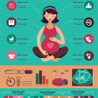 Pregnancy and birth infographics, icon set — Stock Vector #42050327
