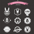 Happy Hipster Easter - set of icons and elements — Stock Vector