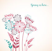 Spring dandelion flowers - vector background — 图库矢量图片