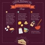 Chalkboard meal recipe template vector design — Stock Vector #45558795