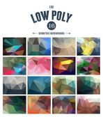 Collection of abstract polygonal backgrounds — Stock Vector
