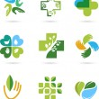 Natural Alternative Herbal Medicine icons — Stock Vector #46579771