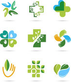 Natural Alternative Herbal Medicine icons — Stock Vector