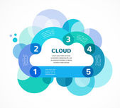 Cloud computing vector infographic with icons — Stock vektor