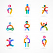 Collection of colorful abstract vector people — Stock Vector #46580229