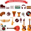 Musical instruments icons set — Stock Vector #47018695