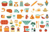Food icons and illustrations - vector collection — Stock Vector