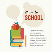 Back to school, read the books, concept backgound — Stockvector