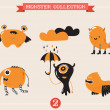 Cute monsters, set of vector illustrations — Stock Vector #50390867