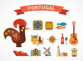 Portugal - set of vector icons — Stock Vector
