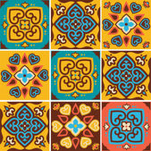 Traditional ceramic tiles patterns — Stock Vector