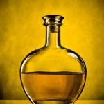 Bottle of cognac — Stock Photo
