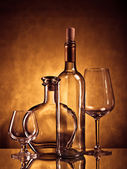 Bottles and glasses — Stock Photo