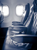 Seats in a passenger aircraft — Стоковое фото