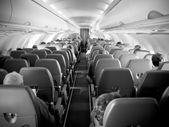 Interior de aviones de pasajeros — Foto de Stock