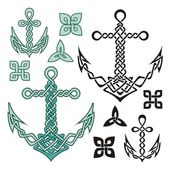 Anchor Celtic — Stock Vector