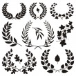 Stock Vector: Wreath icons