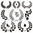 Wreath icons — Stock Vector